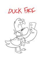 DuckRay Selfie by Weretoons101