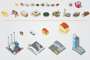 Some Icons and Buildings by gelerli