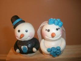 snowman toppers by euromuttgypsy