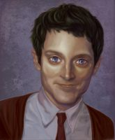 Elijah Wood Digital Caricature by StrawberryHorizons