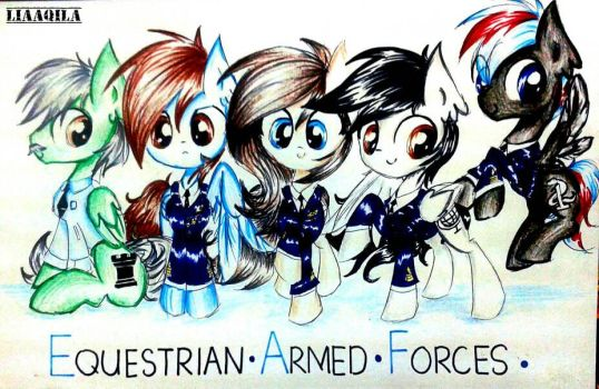 Comm:Equestrian Armed Forces by LiaAqila