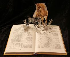 Simple Black Beauty Book Sculpture by wetcanvas