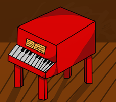 Little red piano by PnF-lover56