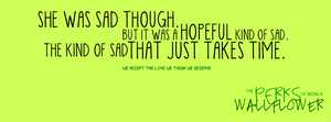 [ B ] The Perks of Being a Wallflower Quote 2 by letterbyowl