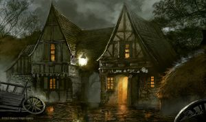 Prancing Pony tavern by daRoz