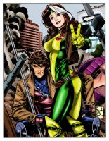 Rogue and Gambit Colors by amydrewthat