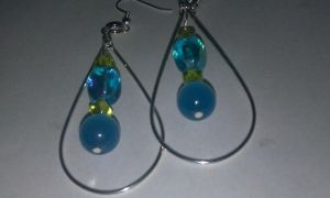 Glass beaded hooped Earrings by ScoopGirl