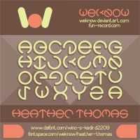 heather thomas font by weknow by weknow