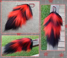 SOLD: 12in Bloody Raver Yarn tail by Black-Heart-Always