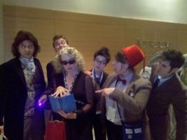 The Doctors and River Song by EmilyScissorhands