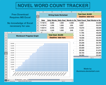 Novel Word Count Tracker by illuminara