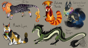 Adoptable Sheet 3- 1 Left by animalartist16