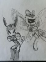 Ladybee and TickTock by TFFangirl