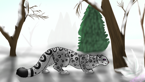 Snow Leopard by Xx0DemonWolf0xX