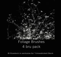 Foliage 4 pack brushes -revi- by Unrestricted-Stock