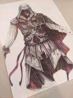 Assassin's Creed - Ballpoint WIP by MCVD