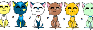 free adoptable batch 1 by Animallover08