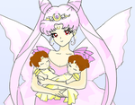 Rini with twins by Sailor-Serenity
