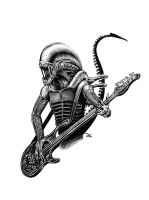 Alien bass player by JanKlimecky