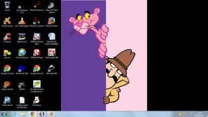 My Pink Panther Desktop by SuperMarcosLucky96