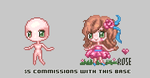 $5 Commissions on this base! by r0se-designs