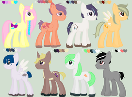 MLP 5 Point Palette Adopts :Closed: by HopeForTheFuture13