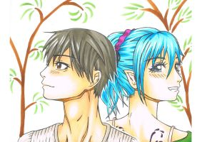 Rosario + Vampire (colored) by VPercent