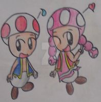 .:Toad and Toadette:. by SkyFormToad