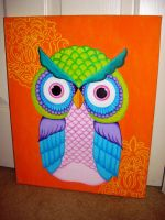 Colorful Owl by MelodieLee
