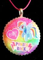 Rainbow Dash Resin Pendant by TashaAkaTachi