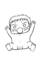 Baby Beel Lineart by Formula-UK