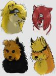 Wolf Busts for babu's on tumblr - Set 1 by Hakamorra