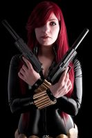 Black Widow - Guns Blazing by Aleke