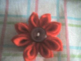 fabric flower pin by witchy--luna