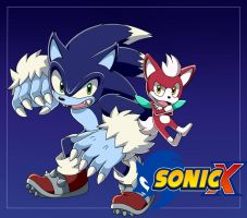 sonic unleashed  Style Sonic X by D-Winter