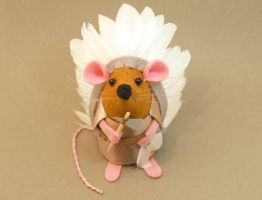 Little Chief Sitting Mouse by The-House-of-Mouse