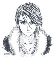 Squall Leonheart of Final Fantasy 8 (Request) by alvinsanity