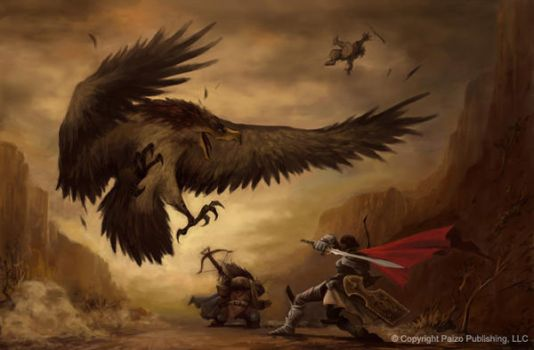 Giant Bird Fight by Concept-Art-House