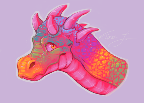 Candy Dragon by SmidgeFish