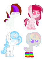 MLP Foal Adopts by xPixels-Puff-Adoptsx