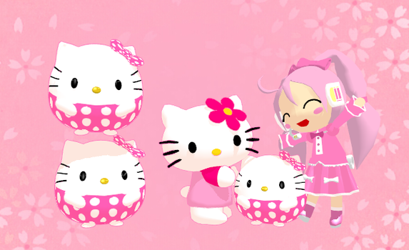 MMD Hello Kitty Beanie Ball + Download by Aira-Melody