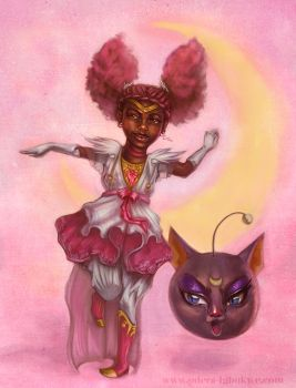 Odera Redesigns Sailor Mini Moon by Odyism