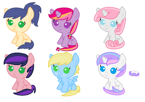 Shipping Adoptables- SoarinJack, TwiMac, Fancylis by LittleSnowyOwl