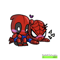 Tiny - Spideypool 01 by issabissabel