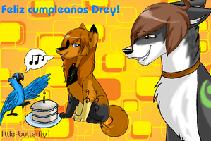 Happy Birth Day - Drey by Niiwolfie