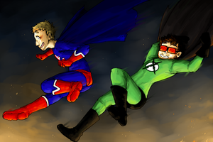 Xray and Vav, Superheroes by reishi98