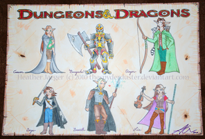 Dungeons and Dragons Commish by TheSpyderDuster
