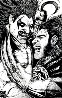 Lobo Vs. Logan by olybear