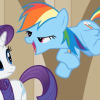 Rainbow Dash Almost Pukes on Rarity by PsychoanalyticBrony