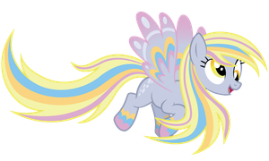 Rainbow Power Derpy Hooves by JakeRaschestadt